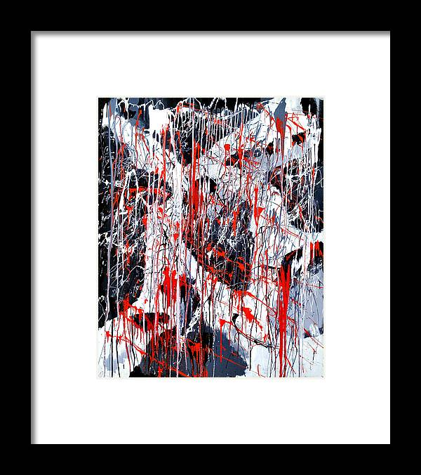 Depression Framed Print featuring the painting Sad Days Indeed by Asbjorn Lonvig