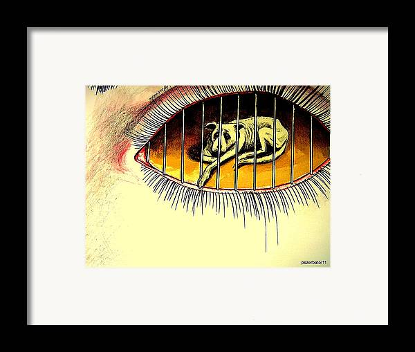 Sad Points Of View Framed Print featuring the digital art Sad Points Of View by Paulo Zerbato