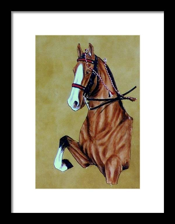 Horses Framed Print featuring the painting Saddlebred by Lilly King