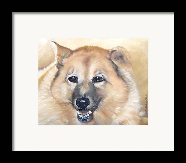 Dog Painting Portraits Dog Oil Paintings Dog Framed Print featuring the painting Sadie by Winifred Ann Weishampel