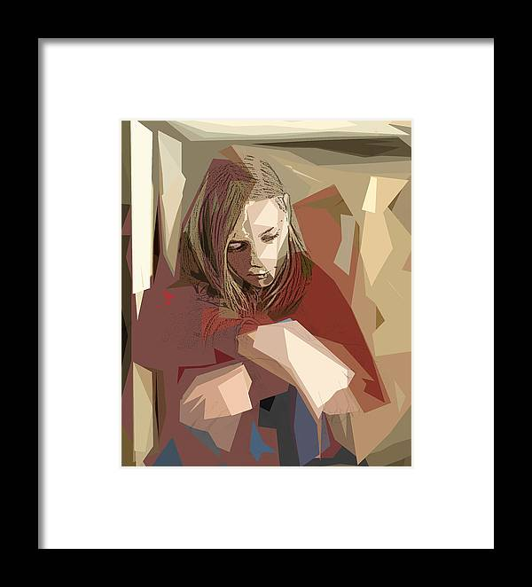 Girl Framed Print featuring the photograph Sadness by Jacqueline Milner