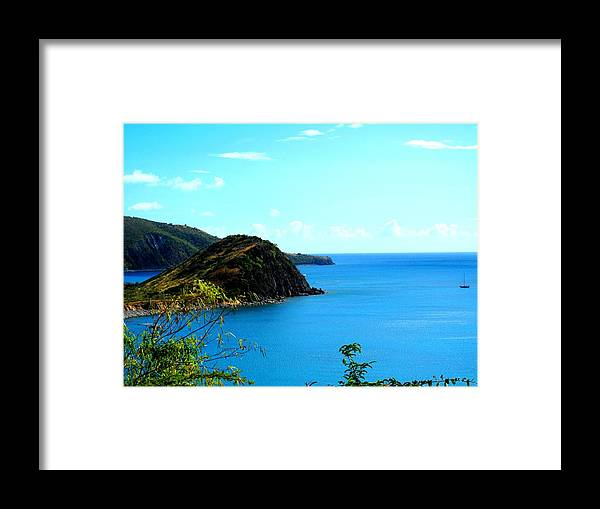 St Kitts Framed Print featuring the photograph Safe Harbor by Ian MacDonald