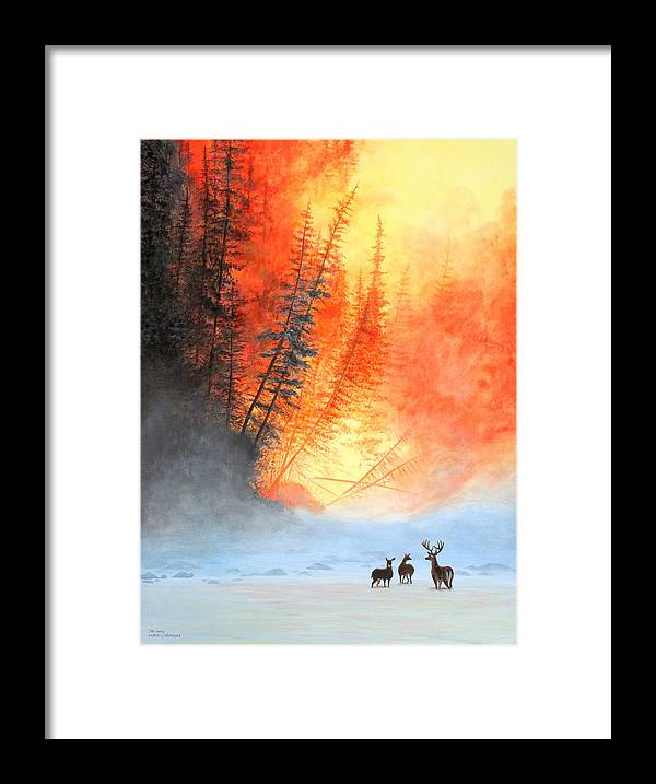 Forest Framed Print featuring the painting Safe Haven by Wilfrido Limvalencia