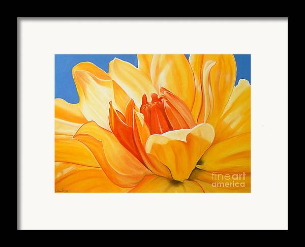 Floral Framed Print featuring the painting Saffron Splendour by Colleen Brown