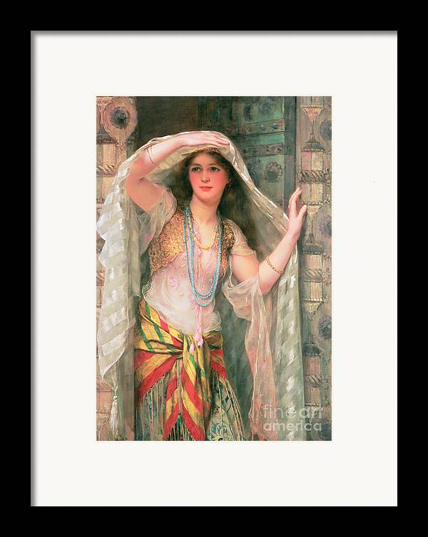 Safie Framed Print featuring the painting Safie by William Clark Wontner