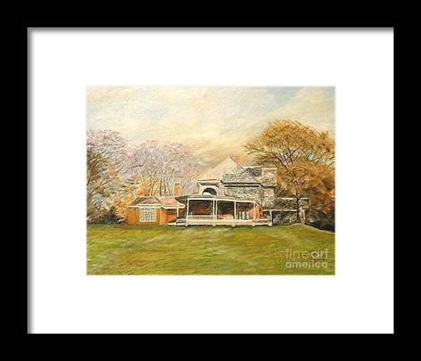 Landscape Painting Sagamore Hill. Framed Print featuring the painting Sagamore Hill by Nicholas Minniti