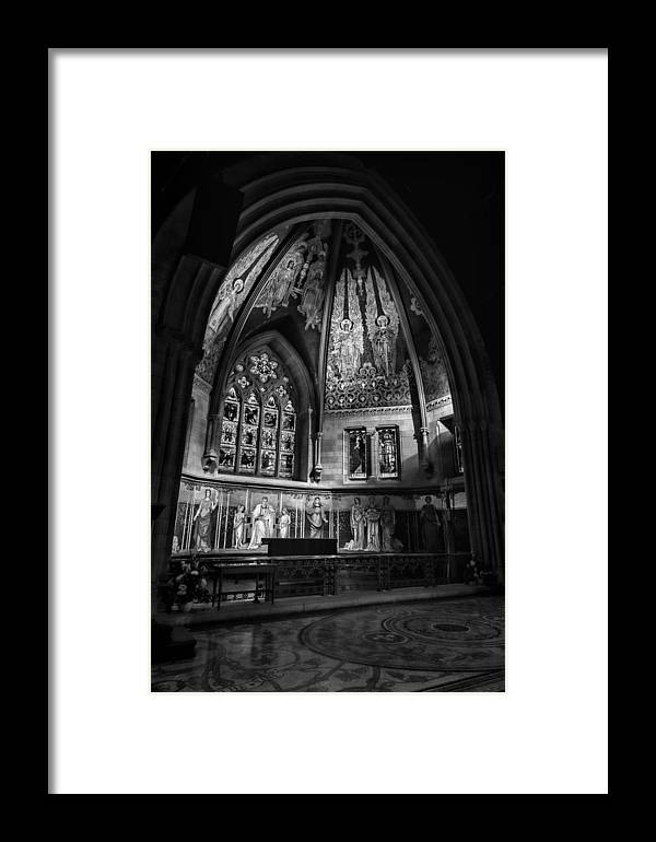 Sage Chapel Framed Print featuring the photograph Sage Chapel Altar by Stephen Stookey