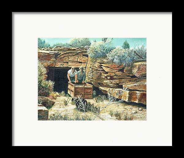 Uranium Mining Framed Print featuring the painting Sage Mine by Lee Bowerman