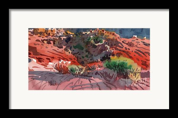 Sagebrush Framed Print featuring the painting Sagebrush by Donald Maier
