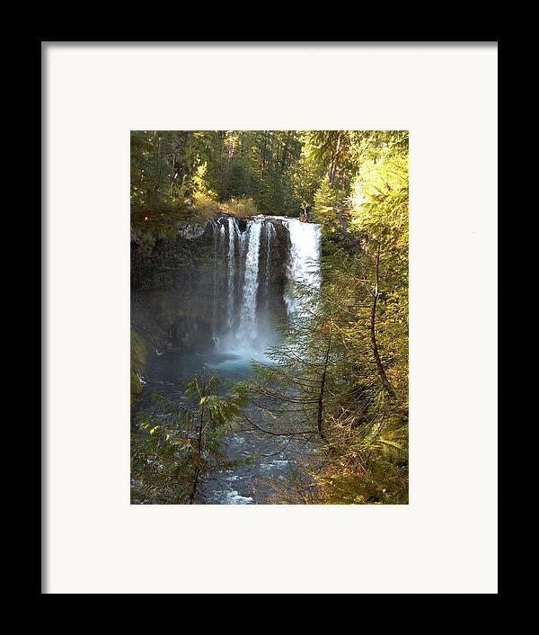Waterfall Bend Oregon Sahalie Falls Mckenzie River Framed Print featuring the photograph Sahalie Falls by Janet Hall