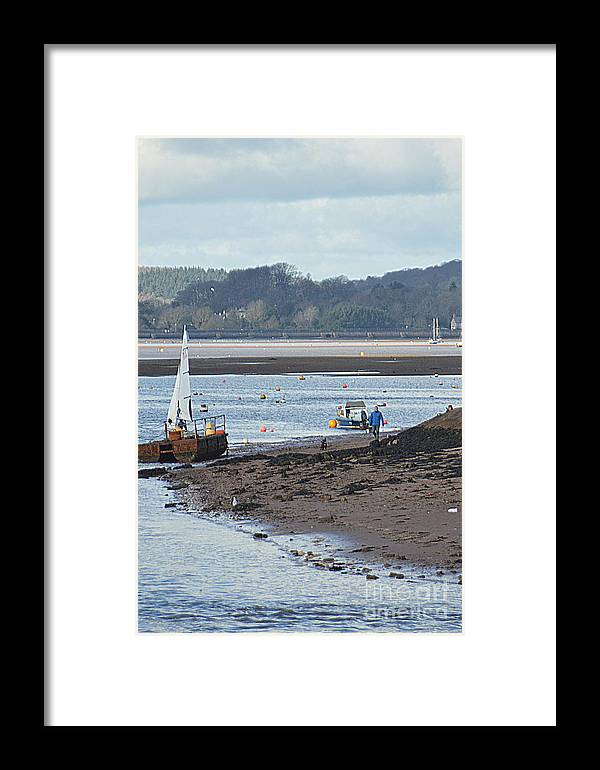 Yacht Framed Print featuring the photograph Sail Boat by Andy Thompson