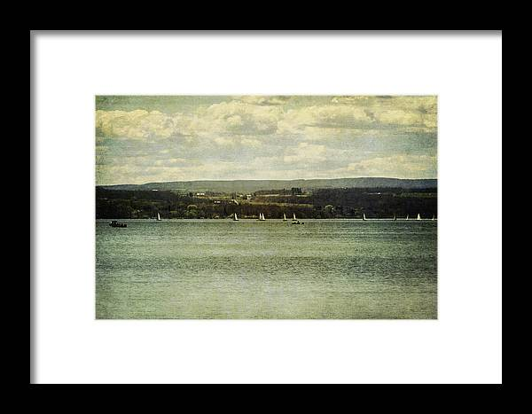 Sailboats Framed Print featuring the photograph Sail Lesson by Alison Squiers
