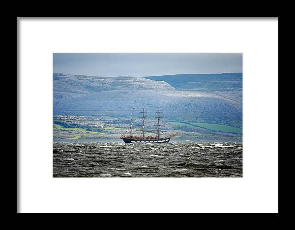 Sailboat Framed Print featuring the photograph Sailboat Galway Ireland by Pierre Leclerc Photography