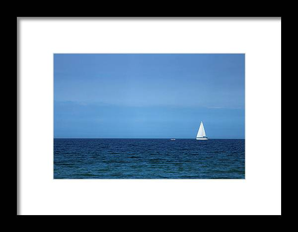 Blue Framed Print featuring the photograph Sailboat by Heike Hultsch