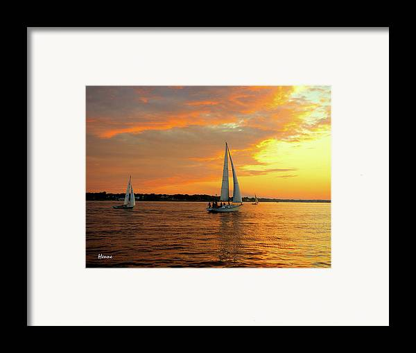 Sailboat Framed Print featuring the photograph Sailboat Parade by Robert Henne