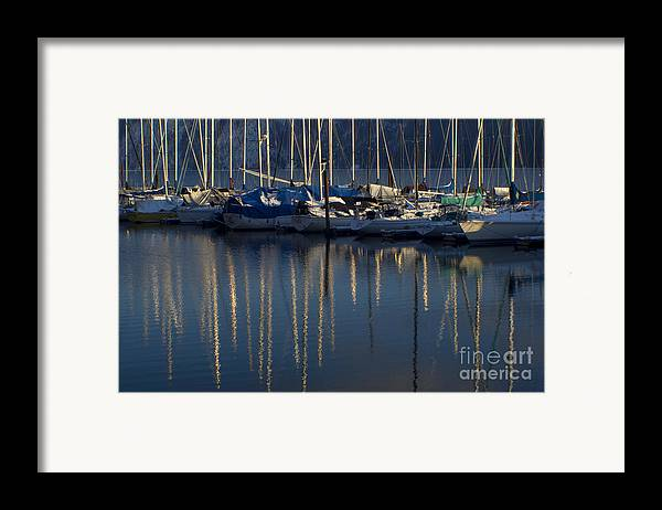 Mast Framed Print featuring the photograph Sailboat Reflections by Idaho Scenic Images Linda Lantzy