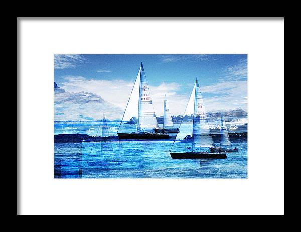 Boats Framed Print featuring the photograph Sailboats by Matthew Robbins