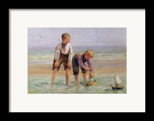 Sailing Framed Print featuring the painting Sailing Boats by Edith Hume