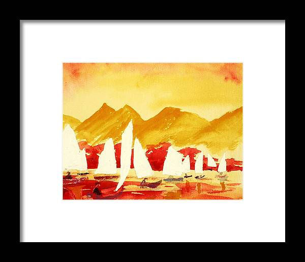 Seascape Framed Print featuring the painting Sailing Class by Buster Dight
