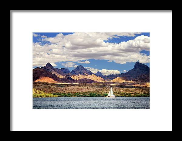 Sailing Framed Print featuring the photograph Sailing In Havasu by James Eddy
