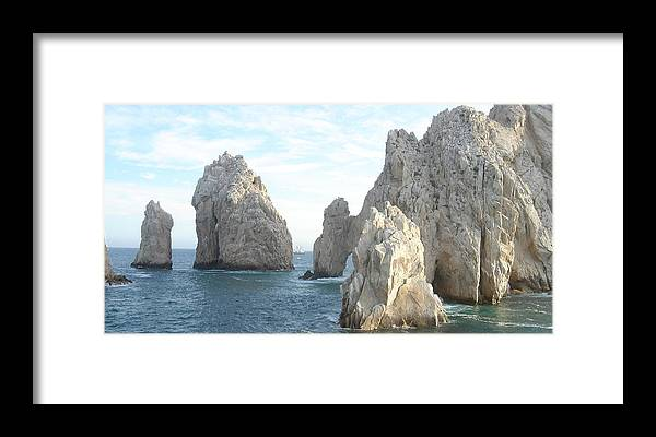 Ocean Framed Print featuring the photograph Sailing In Los Cabos by John Julio