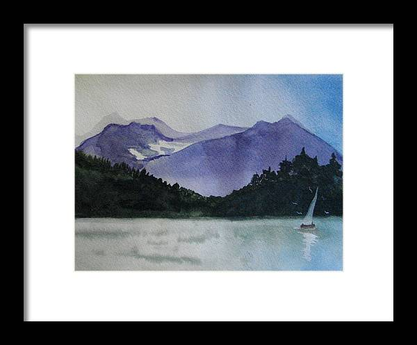 Sailing Framed Print featuring the painting Sailing On The Lake by Dottie Briggs