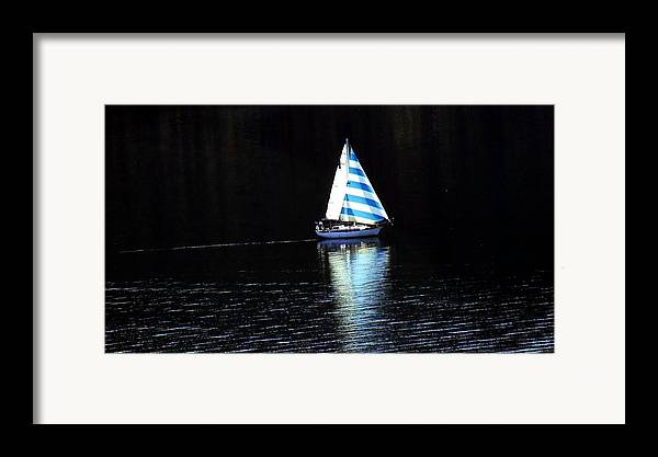 Sailboat Framed Print featuring the photograph Sailing by Tiffany Vest