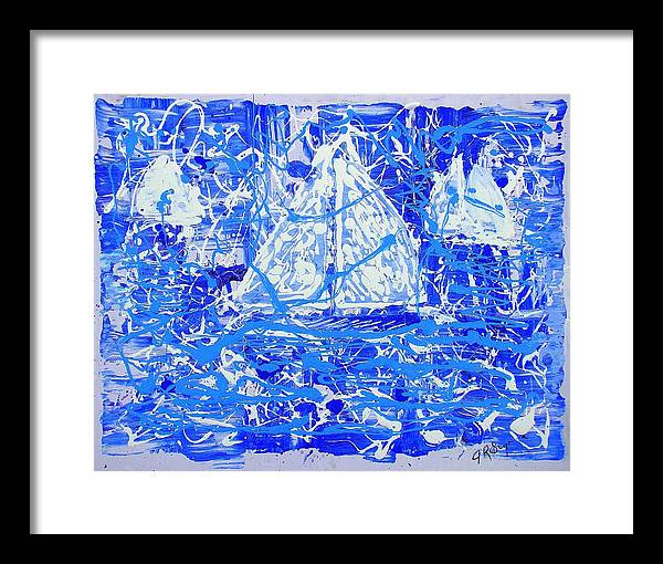 Sailing Framed Print featuring the painting Sailing With Friends by J R Seymour
