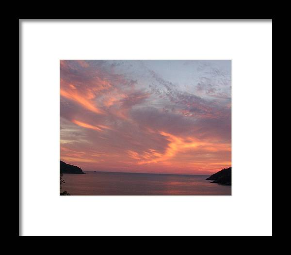 Sunset Framed Print featuring the photograph Sailors Delight by James Johnstone
