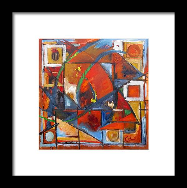 Sails Framed Print featuring the painting Sails by Gary Coleman