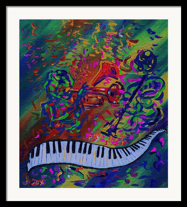 Jazz Painting Framed Print featuring the painting Saint Antony by Stephanie Cox