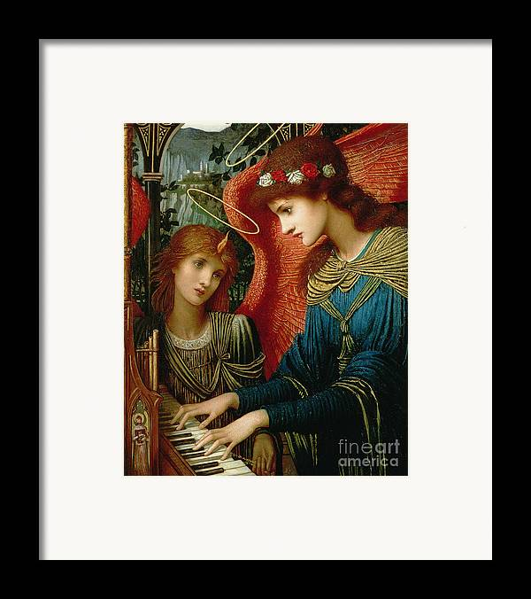 St. Cecilia Framed Print featuring the painting Saint Cecilia by John Melhuish Strukdwic