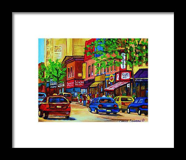 Cityscape Framed Print featuring the painting Saint Lawrence Street by Carole Spandau