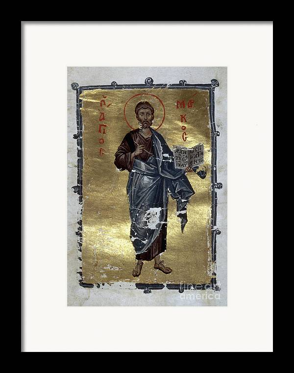 13th Century Framed Print featuring the painting Saint Mark by Granger