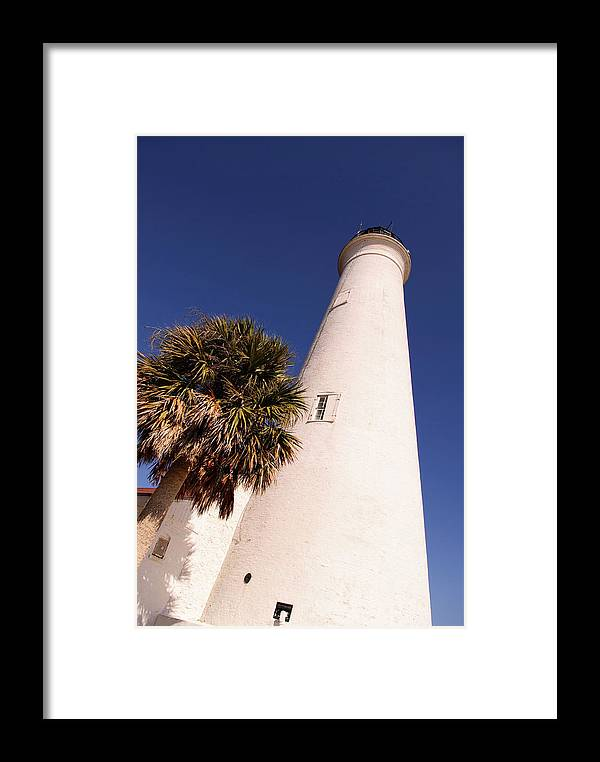 St Marks National Wildlife Refuge Framed Print featuring the photograph Saint Marks Light House Up Close by Frank Feliciano