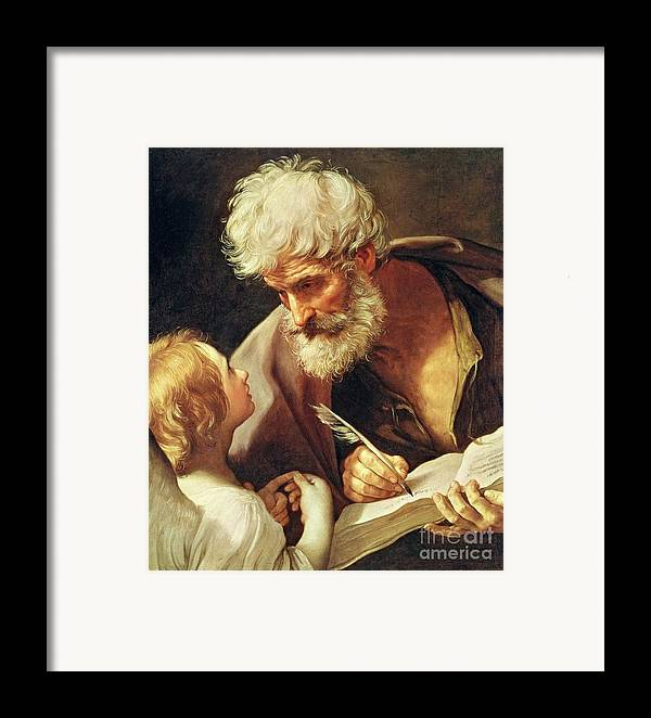 Saint Framed Print featuring the painting Saint Matthew by Guido Reni