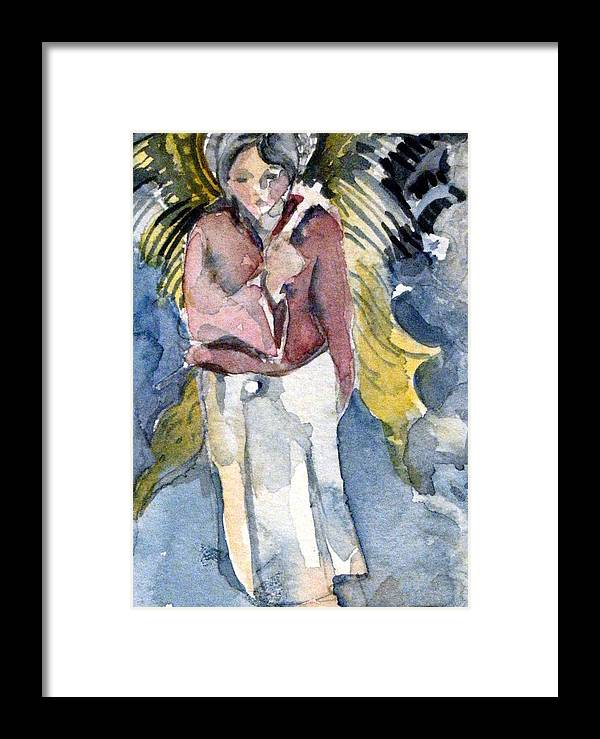 Saint Framed Print featuring the painting Saint Matthew by Mindy Newman