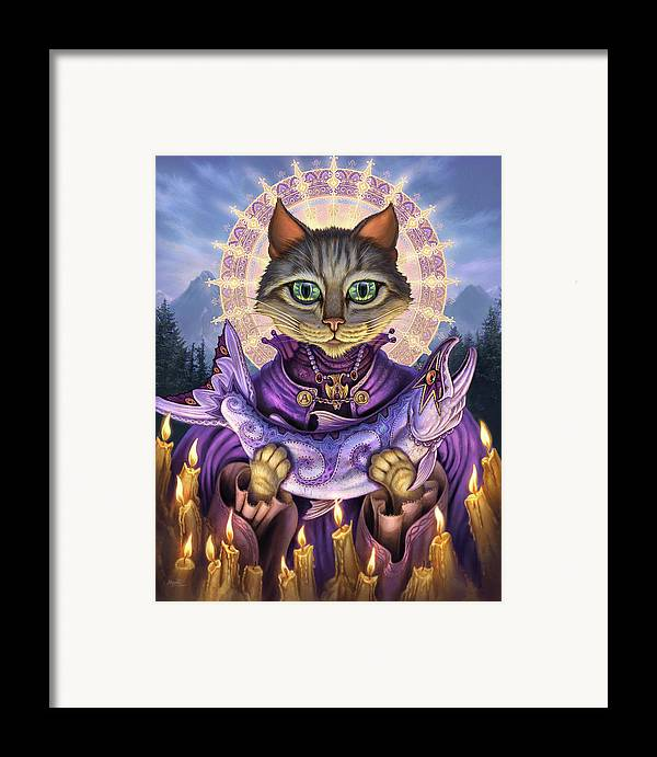 Jeff Haynie Framed Print featuring the painting Saint Of Salmons by Jeff Haynie