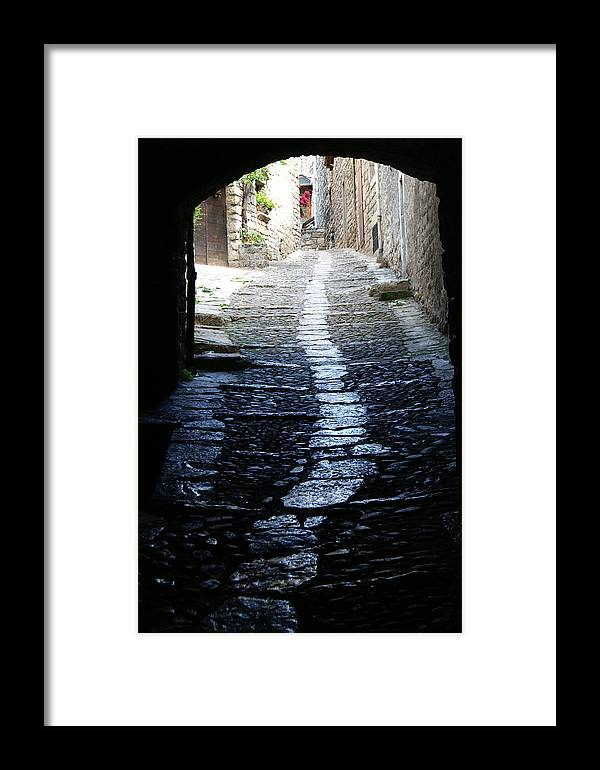 Framed Print featuring the photograph Sainte Enimie In France by Jessica Rose