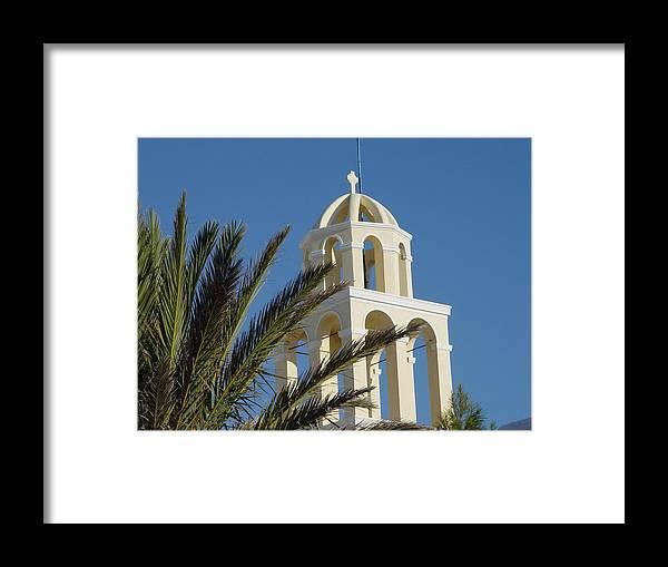 Santorini Framed Print featuring the photograph Saintorini A Testiment Of Time by Nancy Bradley