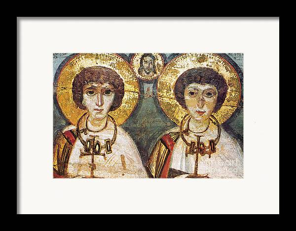 7th Century Framed Print featuring the photograph Saints Sergius And Bacchus by Granger