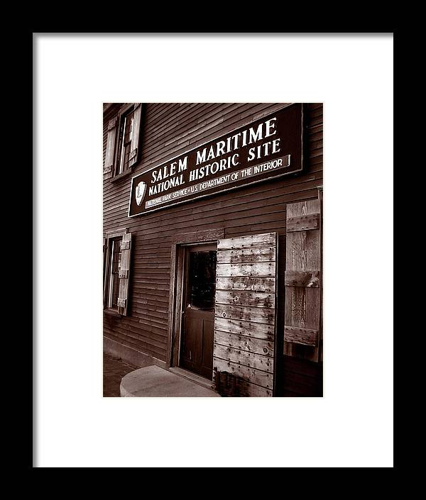 Salem Framed Print featuring the photograph Salem Maritime by Heather Weikel