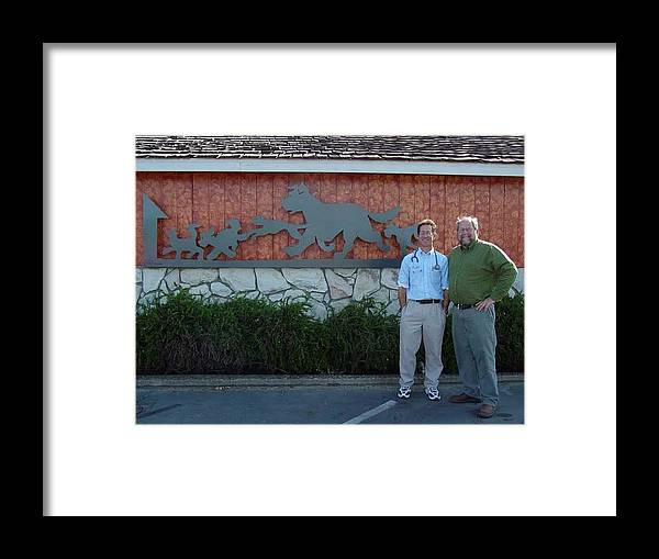 Corporate Commissions Framed Print featuring the sculpture Salida Veterinary Clinic   SOLD by Steve Mudge