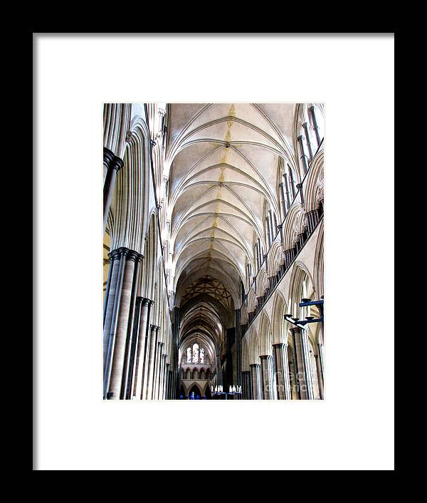 Salisbury Framed Print featuring the photograph Salisbury Cathedral by Amanda Barcon