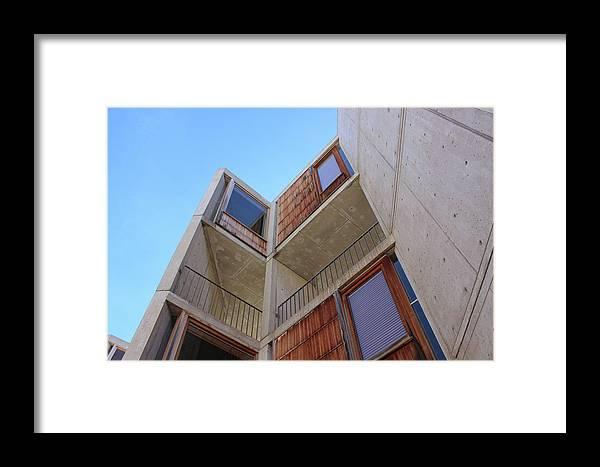 Salk Framed Print featuring the photograph Salk Architecture by Joseph Mueller