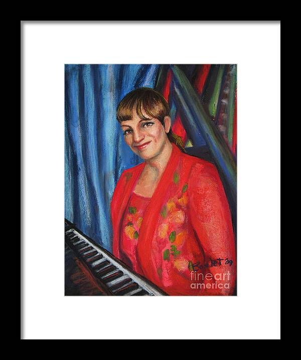 Musician Framed Print featuring the painting Sally Ann by Beverly Boulet