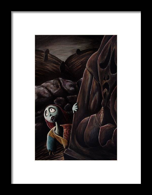 Nightmare Before Christmas Framed Print featuring the painting Sally by Marlon Huynh