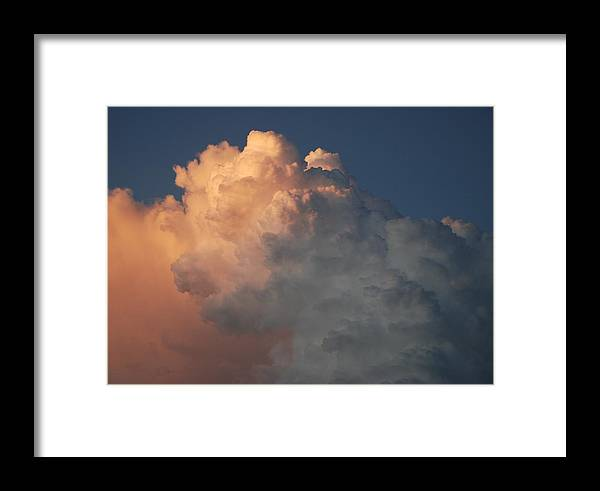 Clouds Framed Print featuring the photograph Salmon Sky by Rob Hans