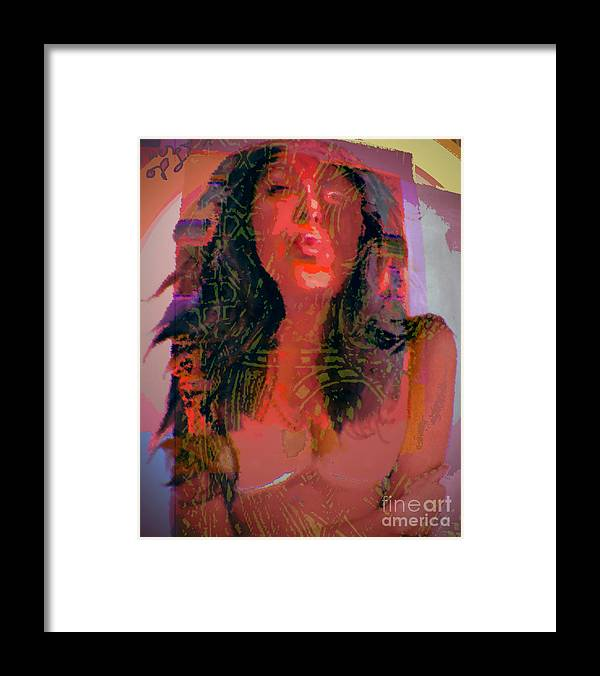 Portrait Framed Print featuring the digital art Salome by Noredin Morgan