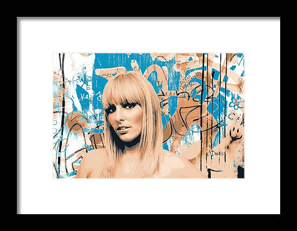 Blonde Framed Print featuring the mixed media Charline by Shay Culligan